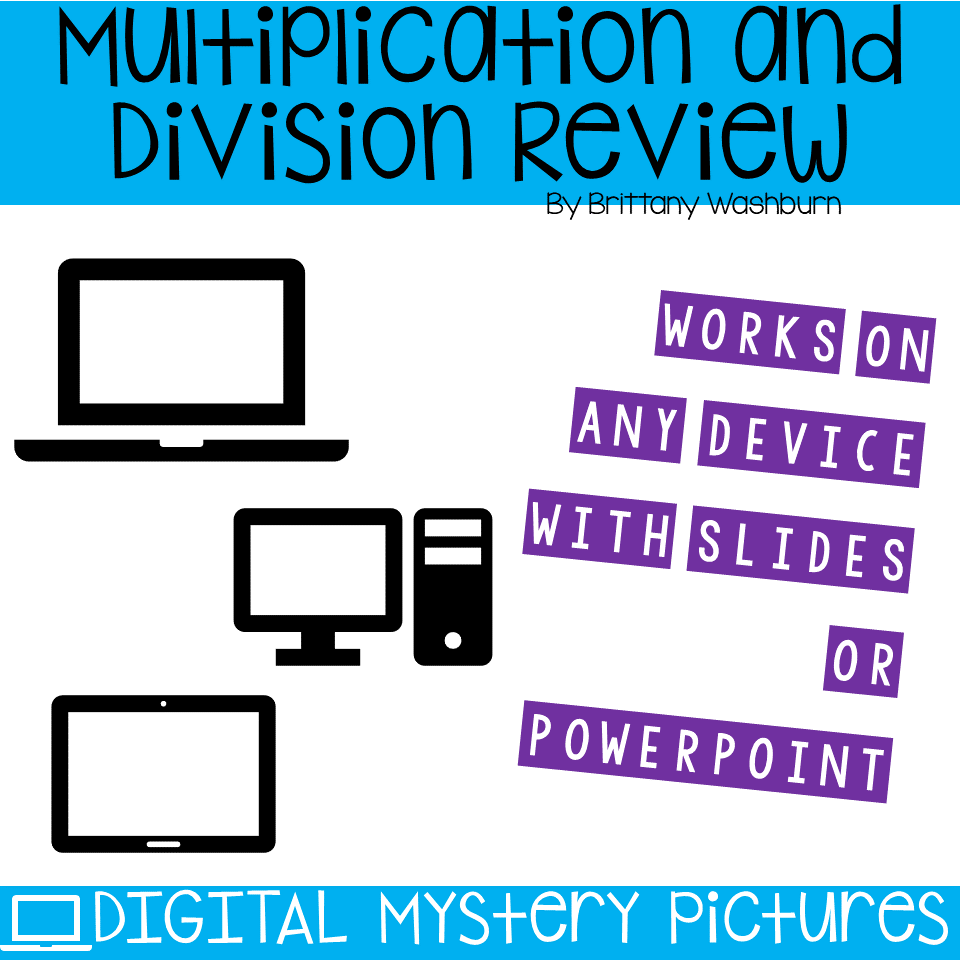 April Themed Multiplication and Division Practice DIGITAL Mystery ...