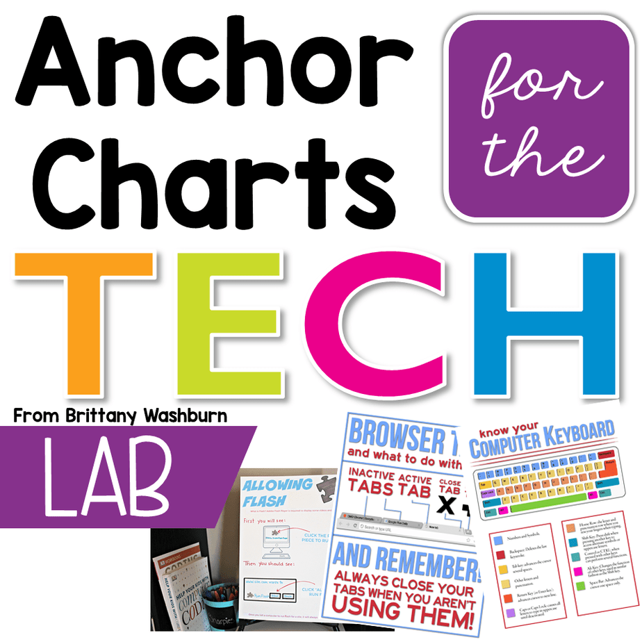 Do you want to just print them and not have to create them by hand? Check out this resource for digital versions of these and 6 more tech anchor charts.