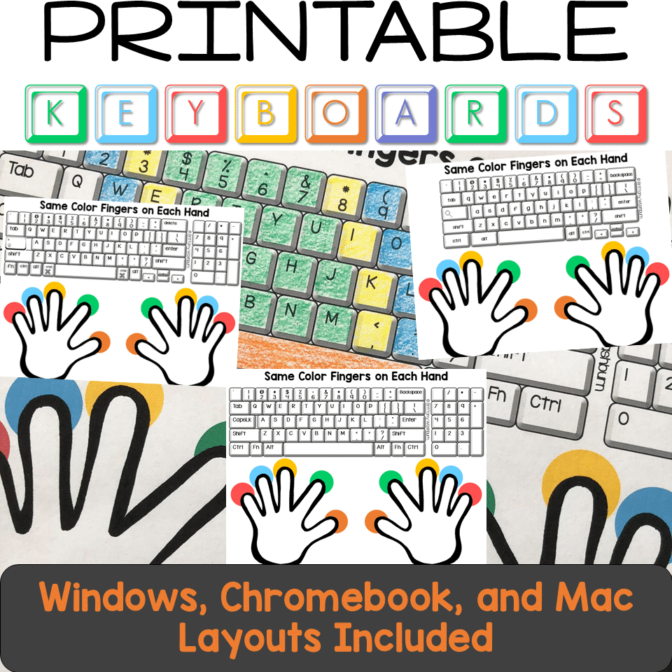 medium resolution of Typing Practice Printable Keyboard Pages - Technology Curriculum