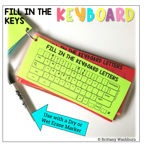 small resolution of Fill in the Keyboards UNPLUGGED Task Cards - Technology Curriculum