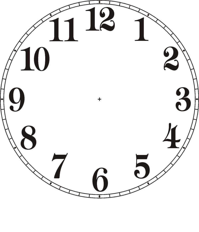 Printable Clock Face Template