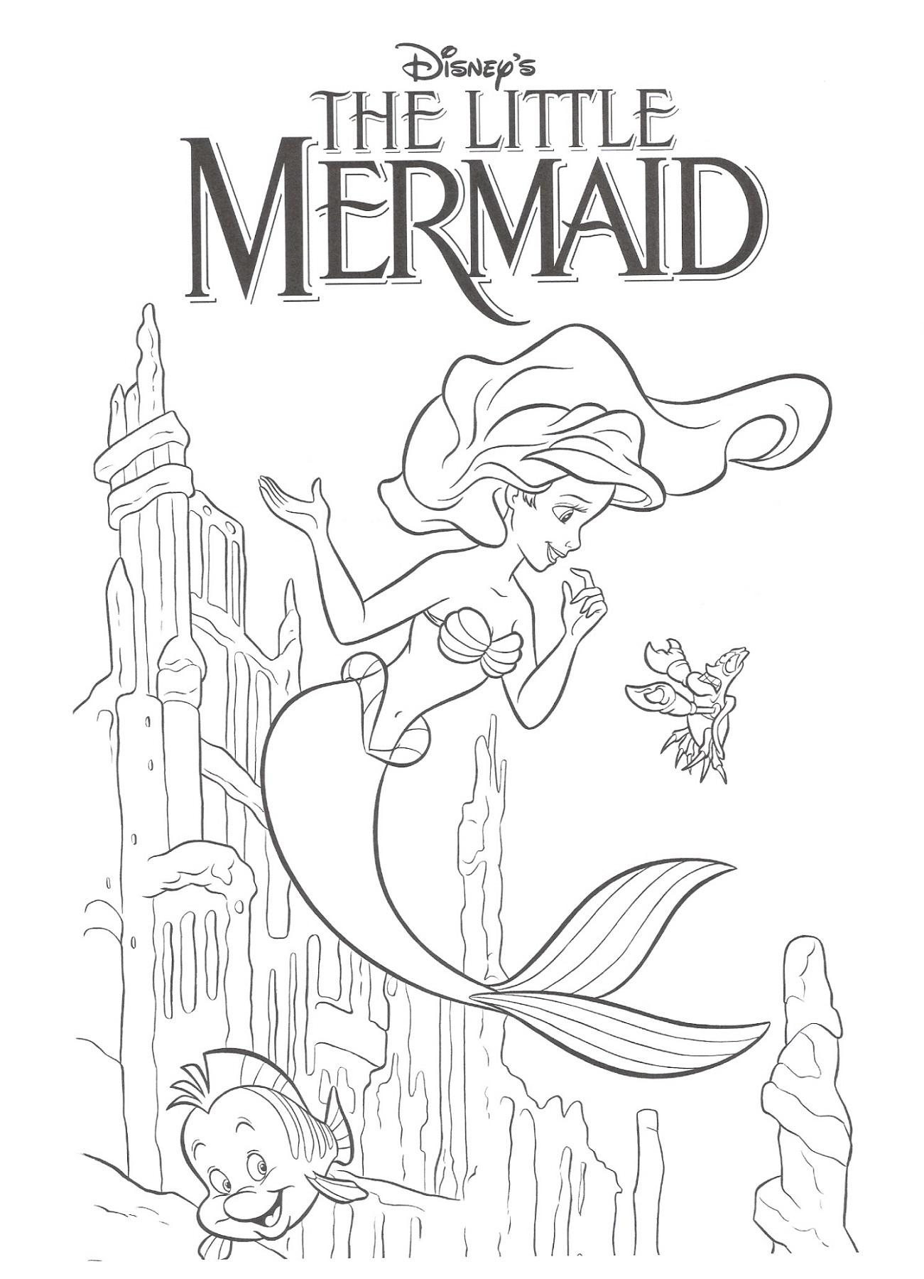Little Mermaid Activities Coloring
