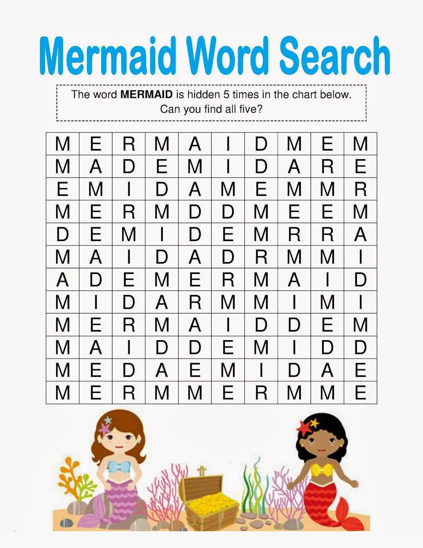 Little Mermaid Activities To Print