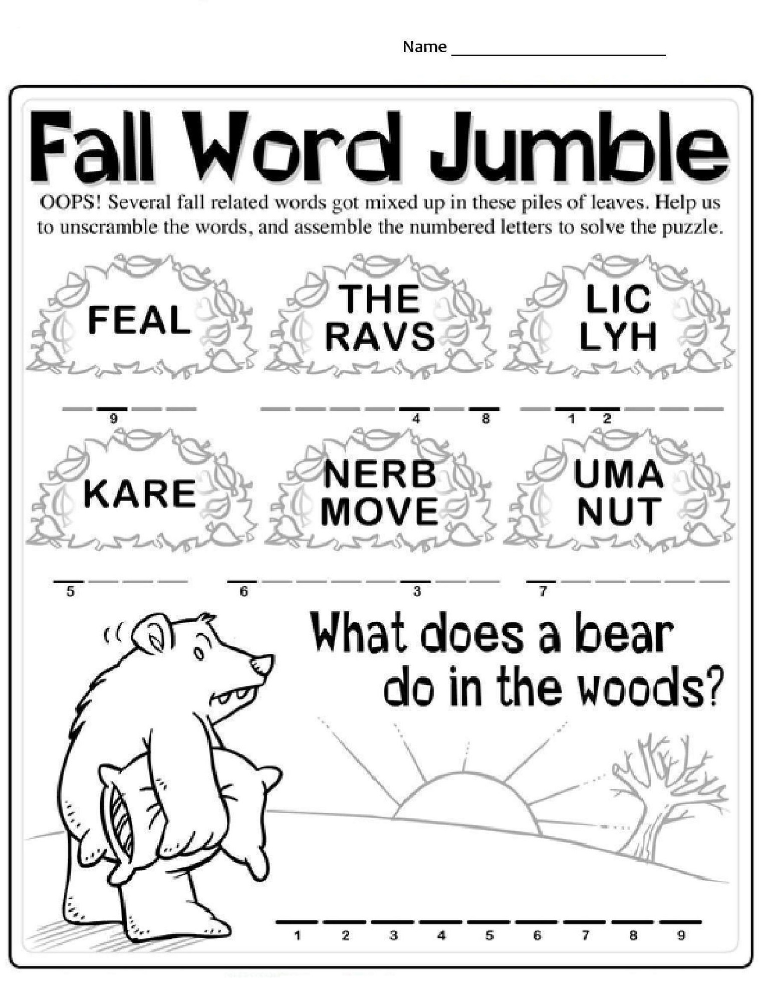 K4 Worksheet Free