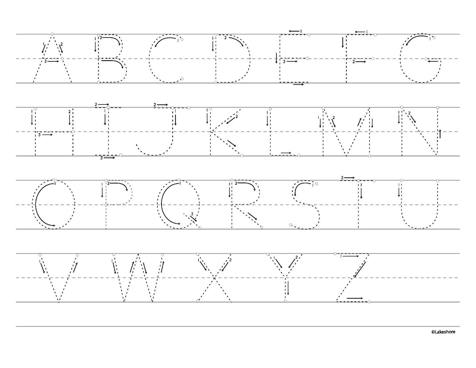 Tracing Alphabet A Z For Kindergarten