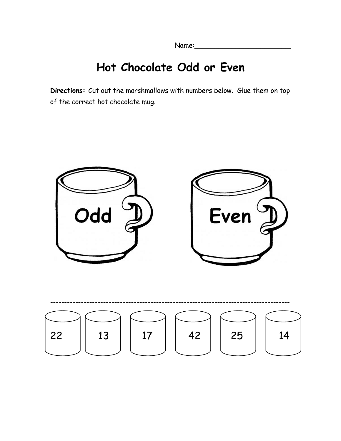Even And Odd Number Worksheets