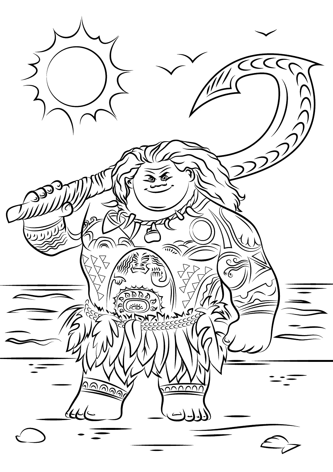 Printable Moana Coloring Pages