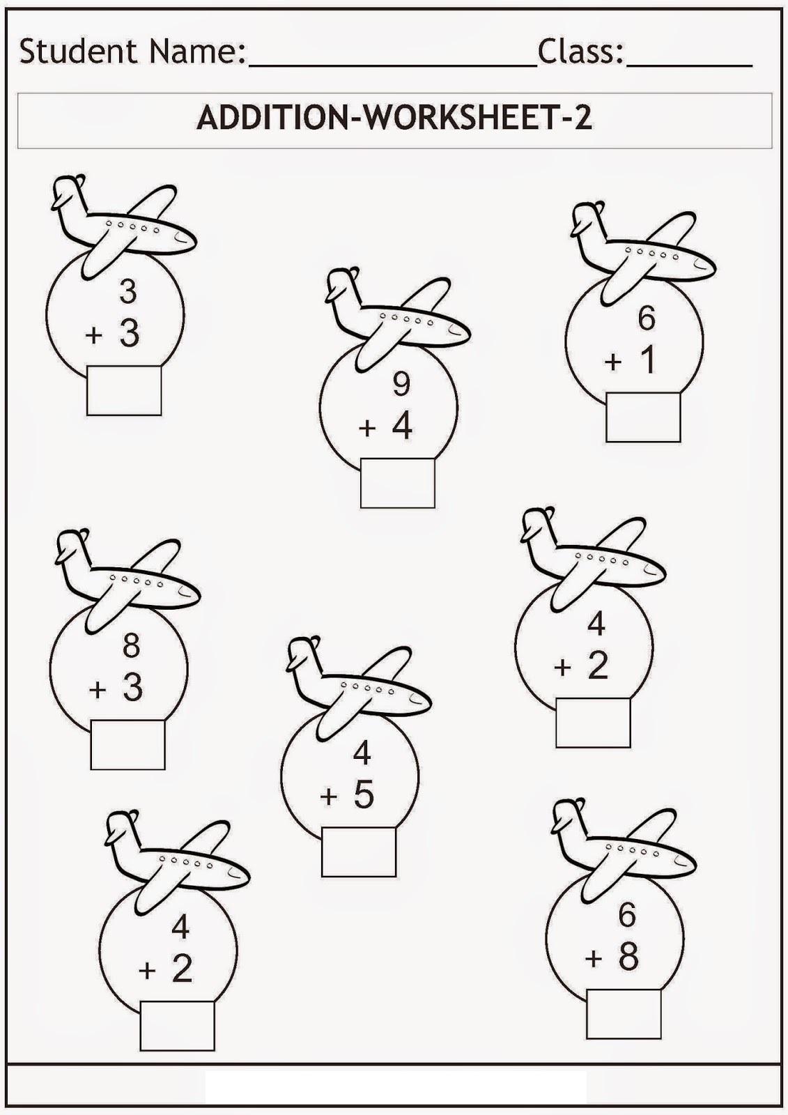 Light Bulb Christmas Addition Worksheet