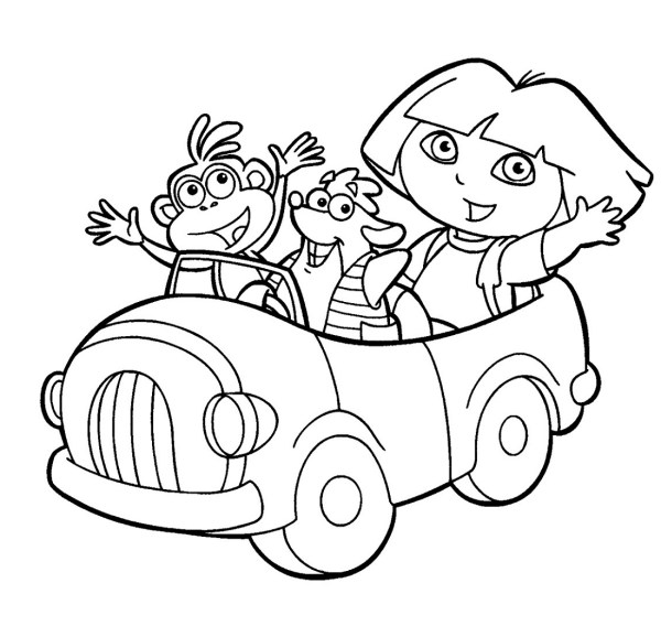 dora coloring pages printable # 46