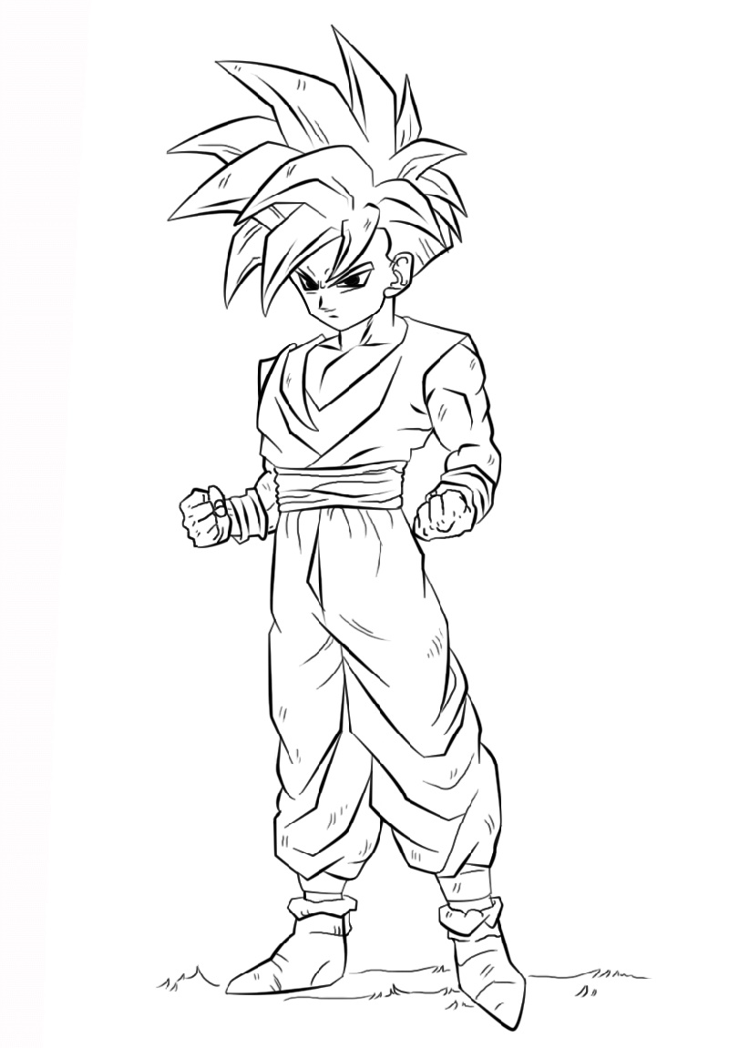 Dragon Ball Z Coloring Pages Gohan - K5 Worksheets