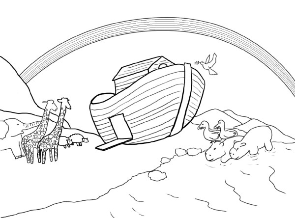 noah and the ark coloring pages # 26