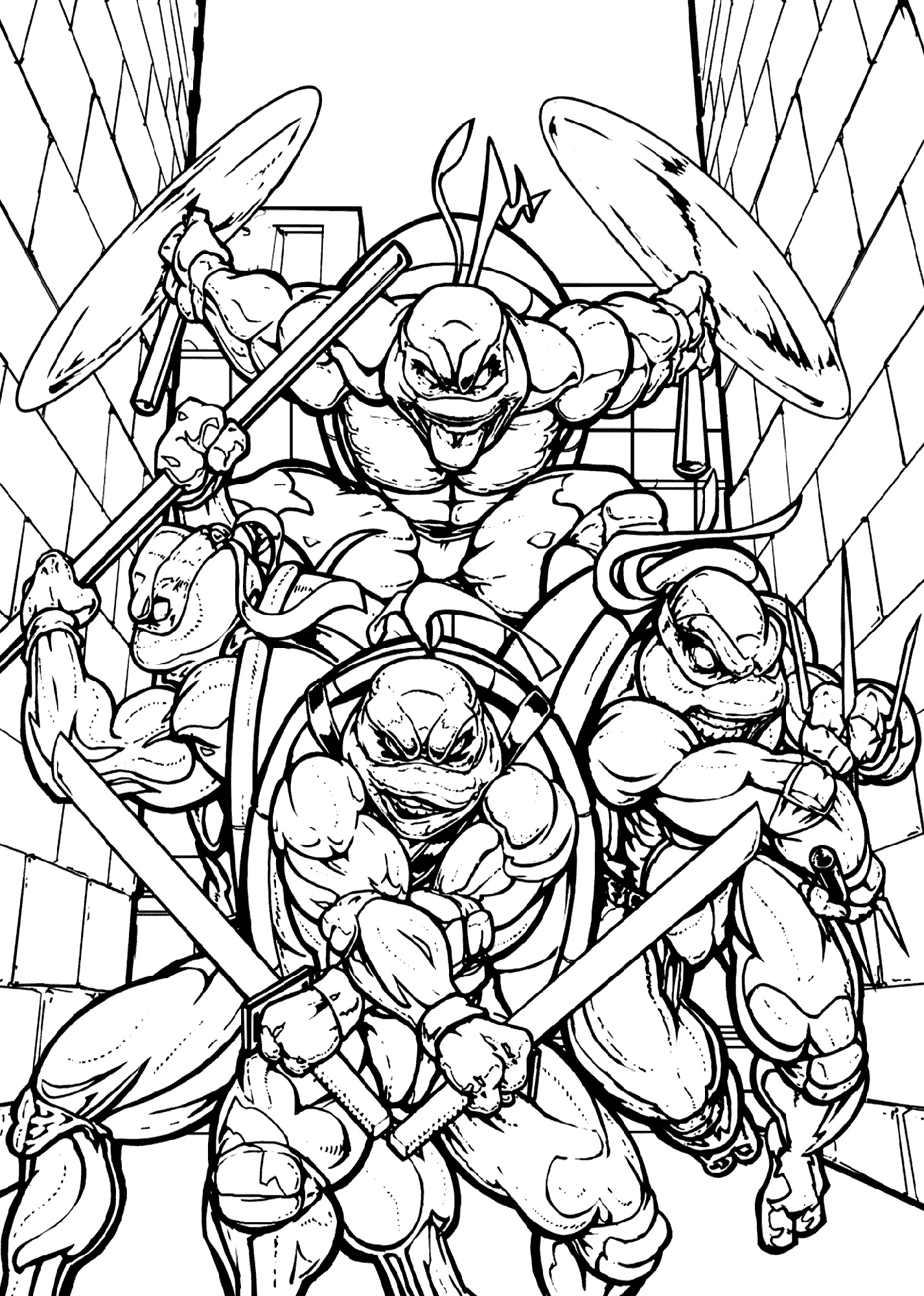 Teenage Mutant Ninja Turtle Coloring Sheets Printable
