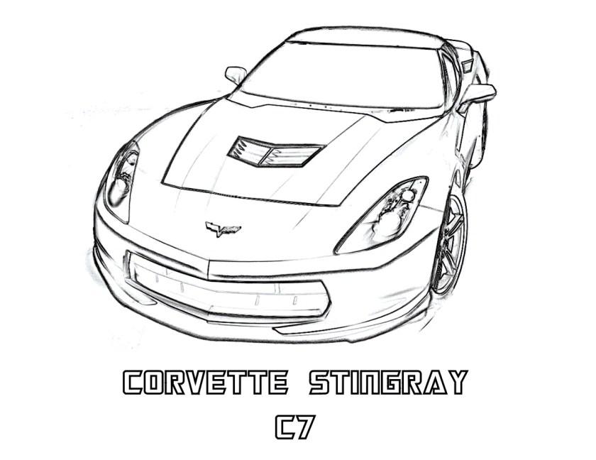corvette coloring pages  k5 worksheets