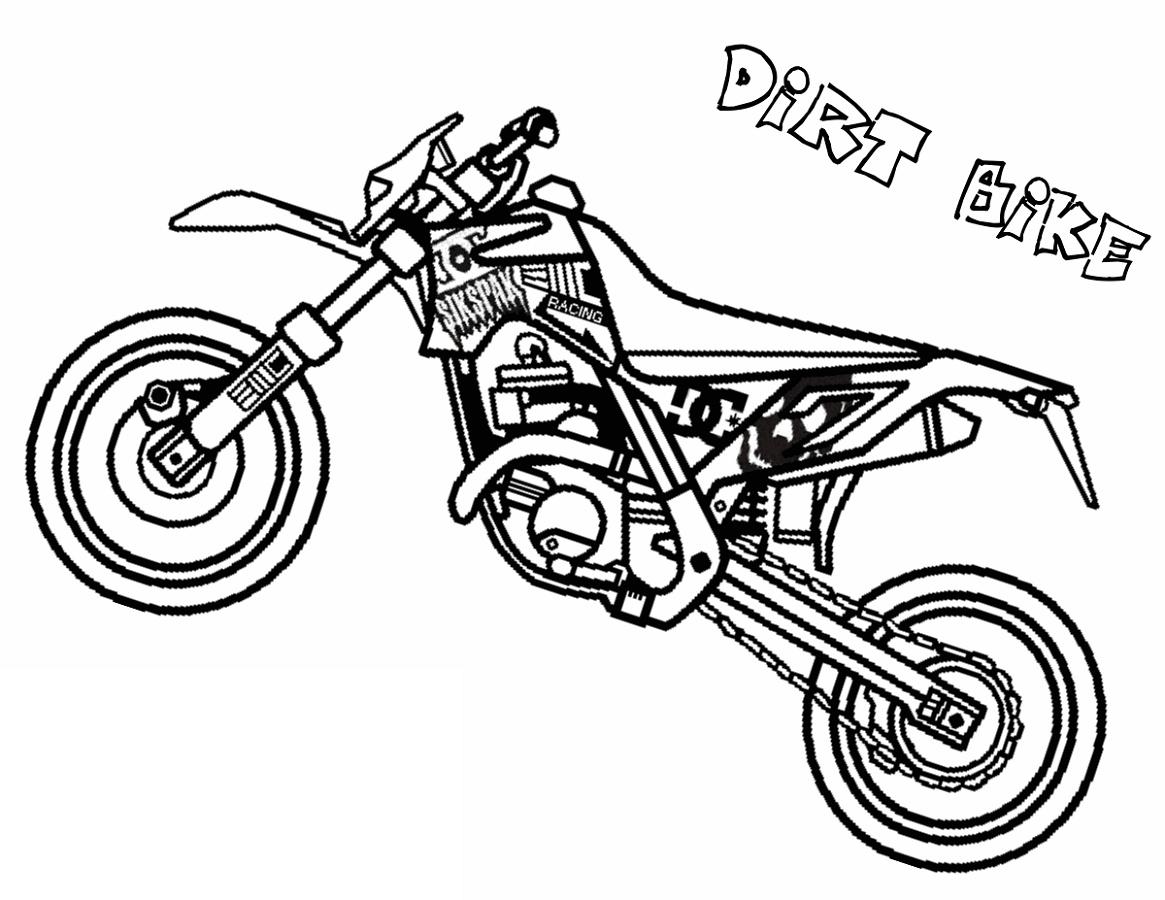 Dirt Bike Coloring Pages Printable K5 Worksheets