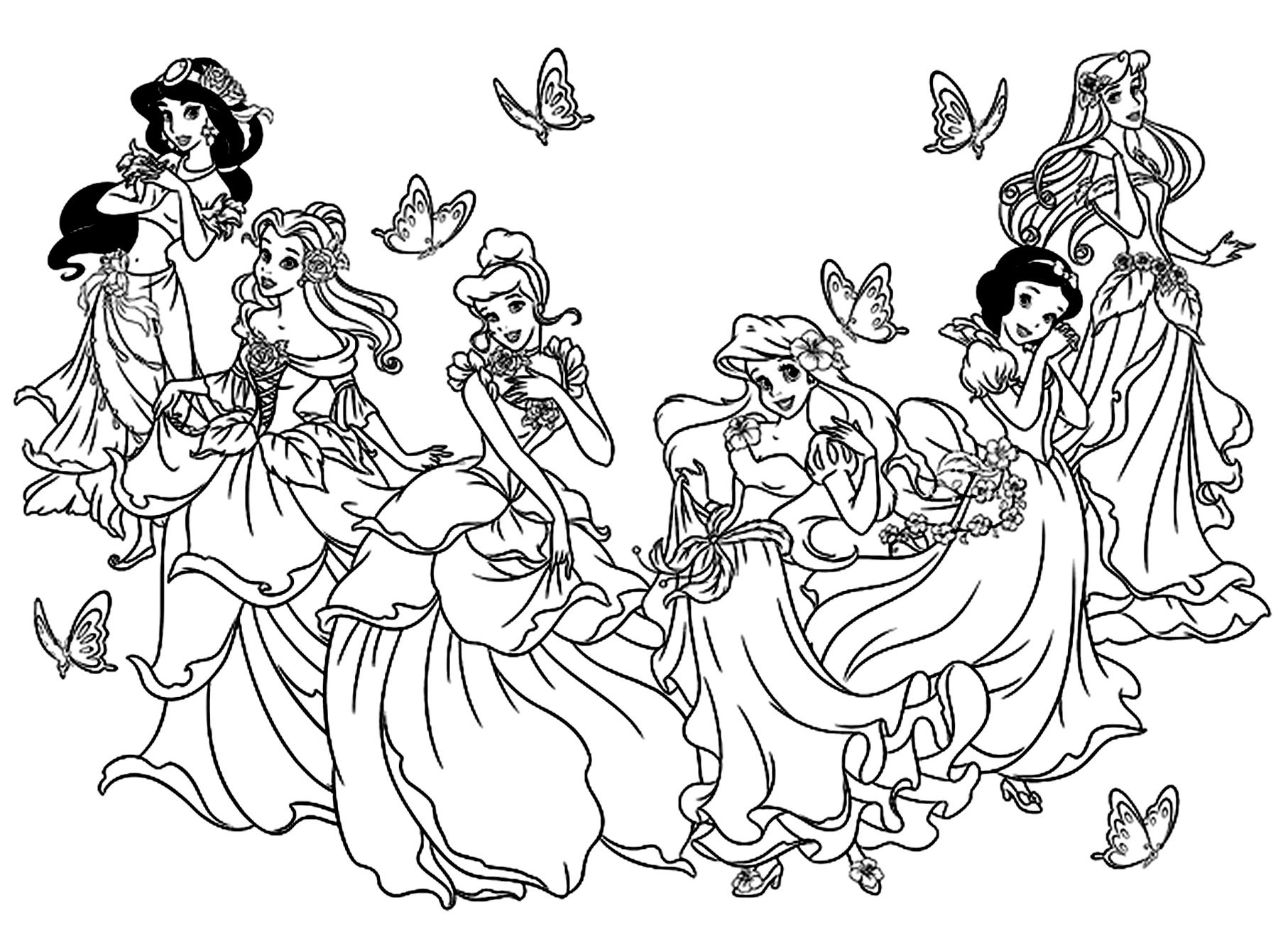 Disney Coloring Pages All Princess K5 Worksheets