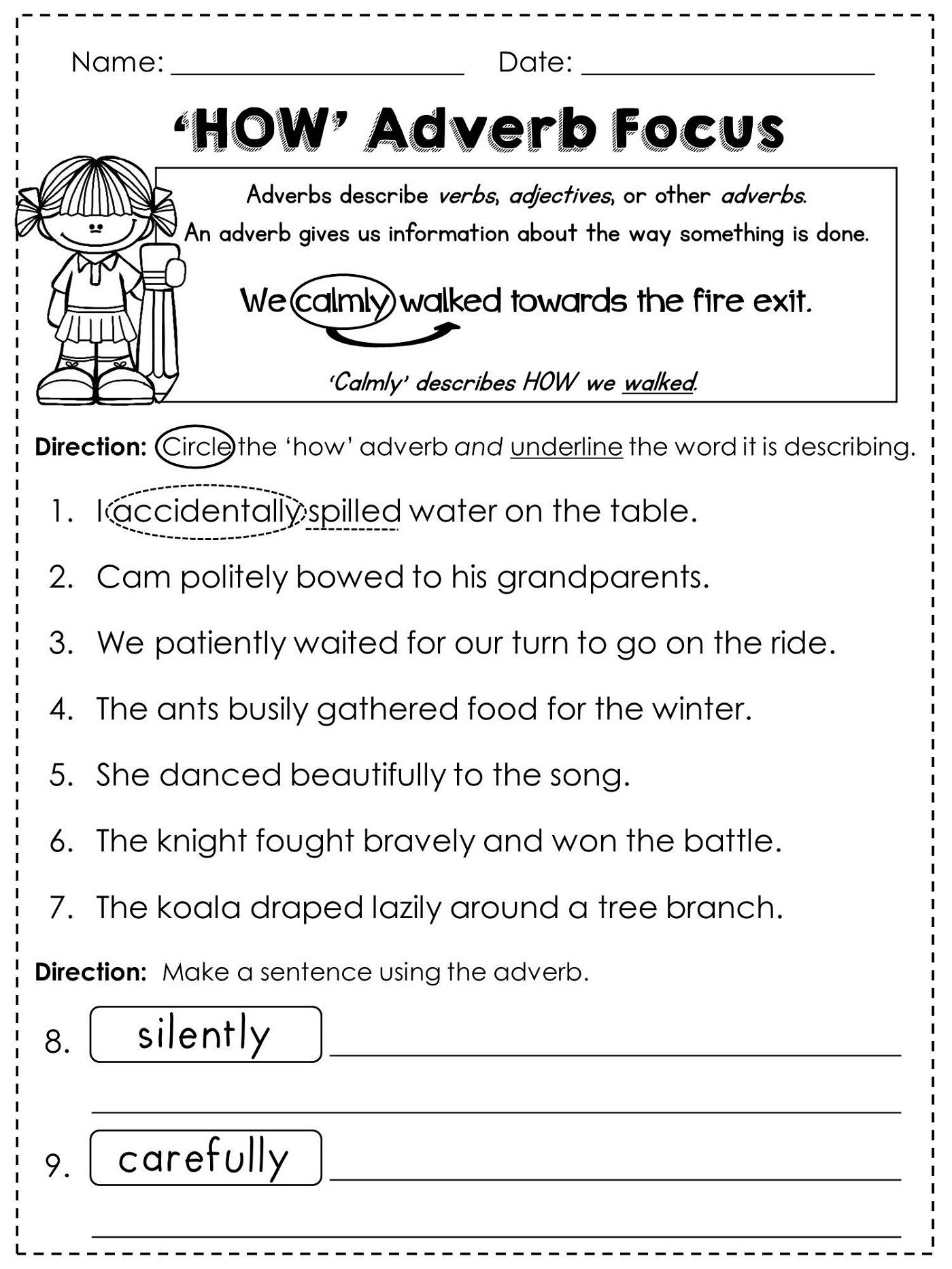 Free Grammar Worksheets