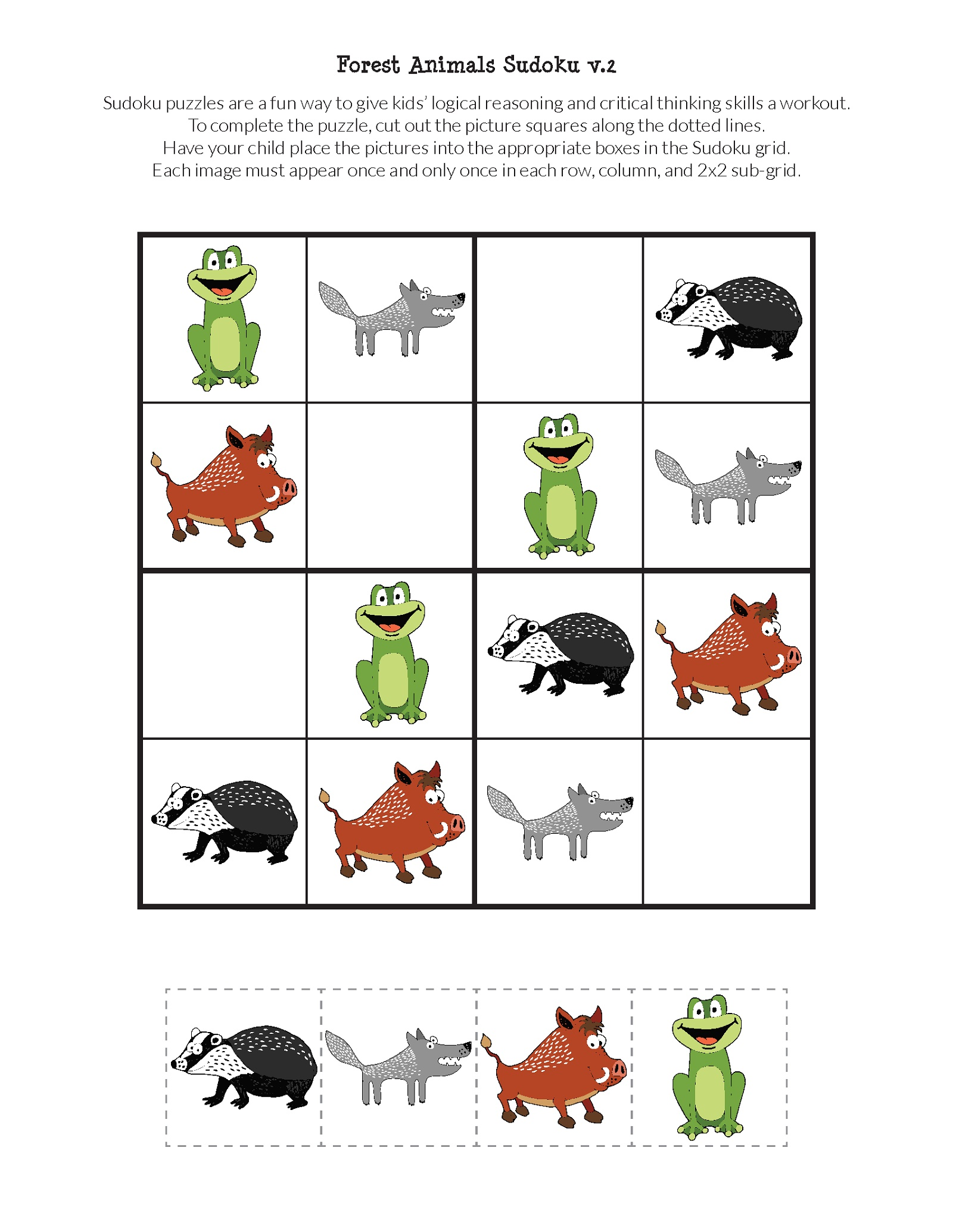 Free Printable Puzzles For Kids