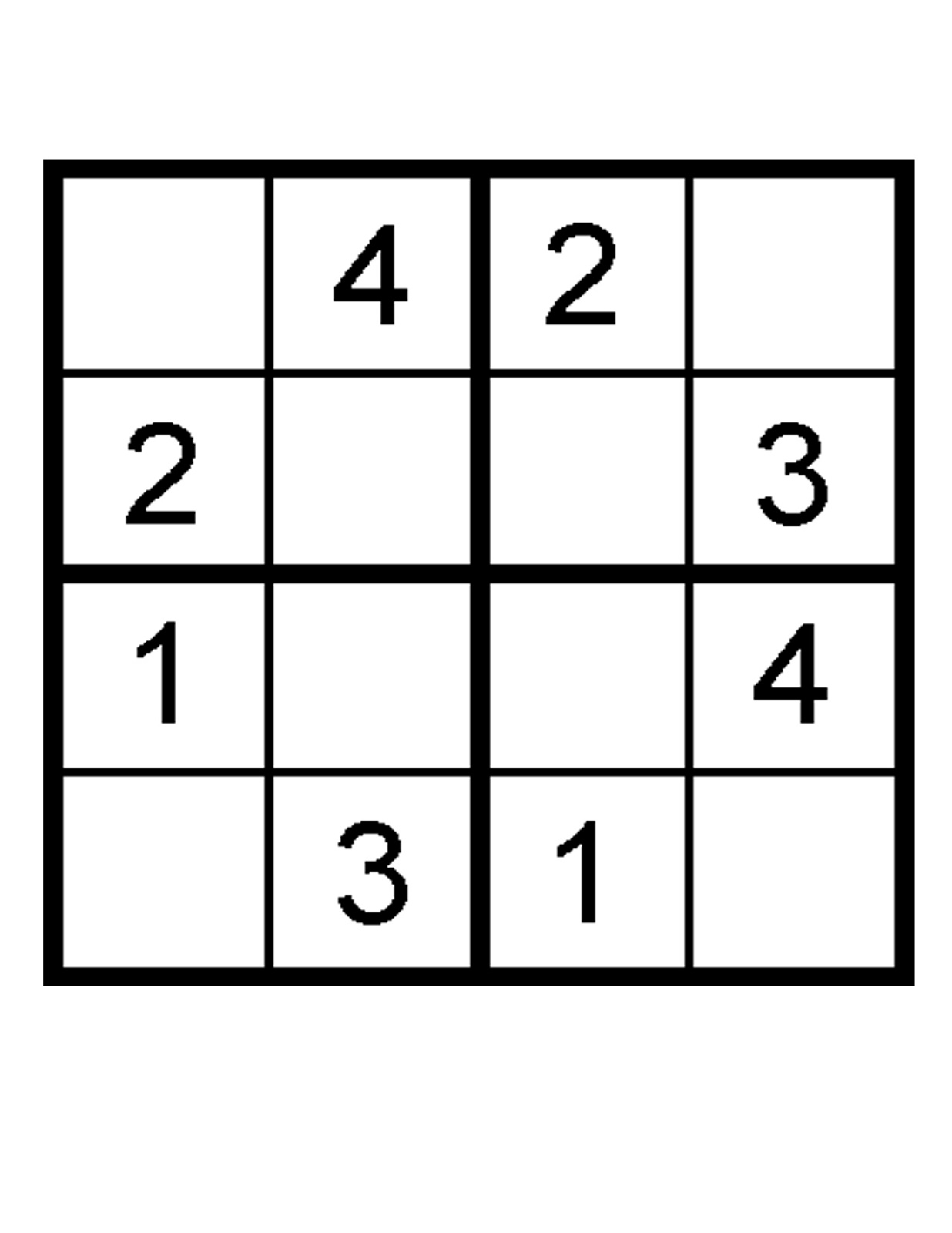 Sudoku Printable Worksheet | Printable Worksheets and Activities for