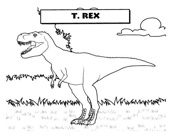 tyrannosaurus rex coloring page # 62