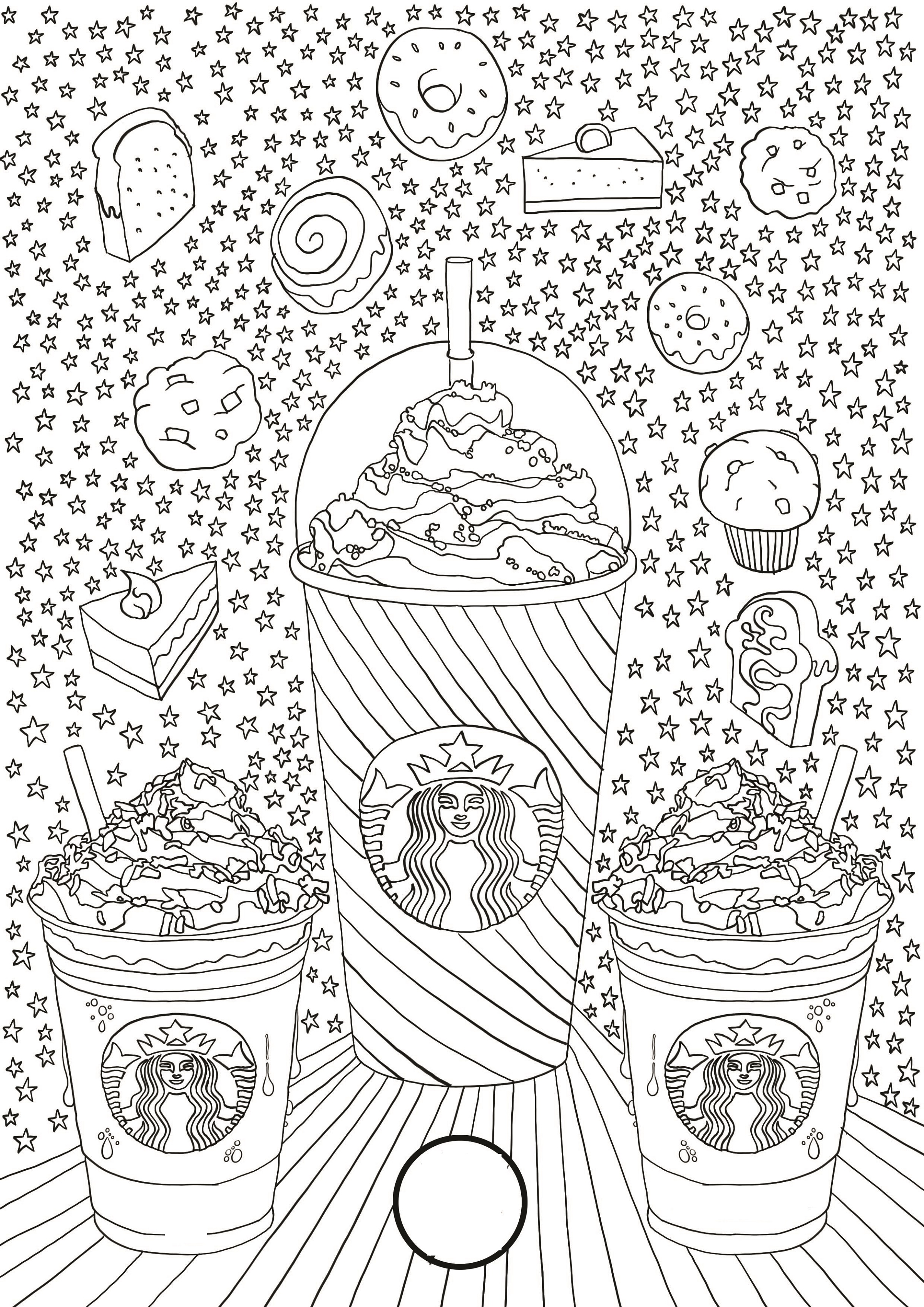 Starbucks Coloring Page