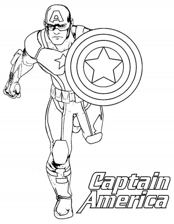 captain america shield coloring page # 80