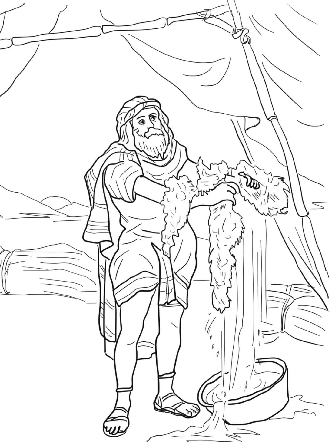 Gideon Coloring Pages And The Fleece