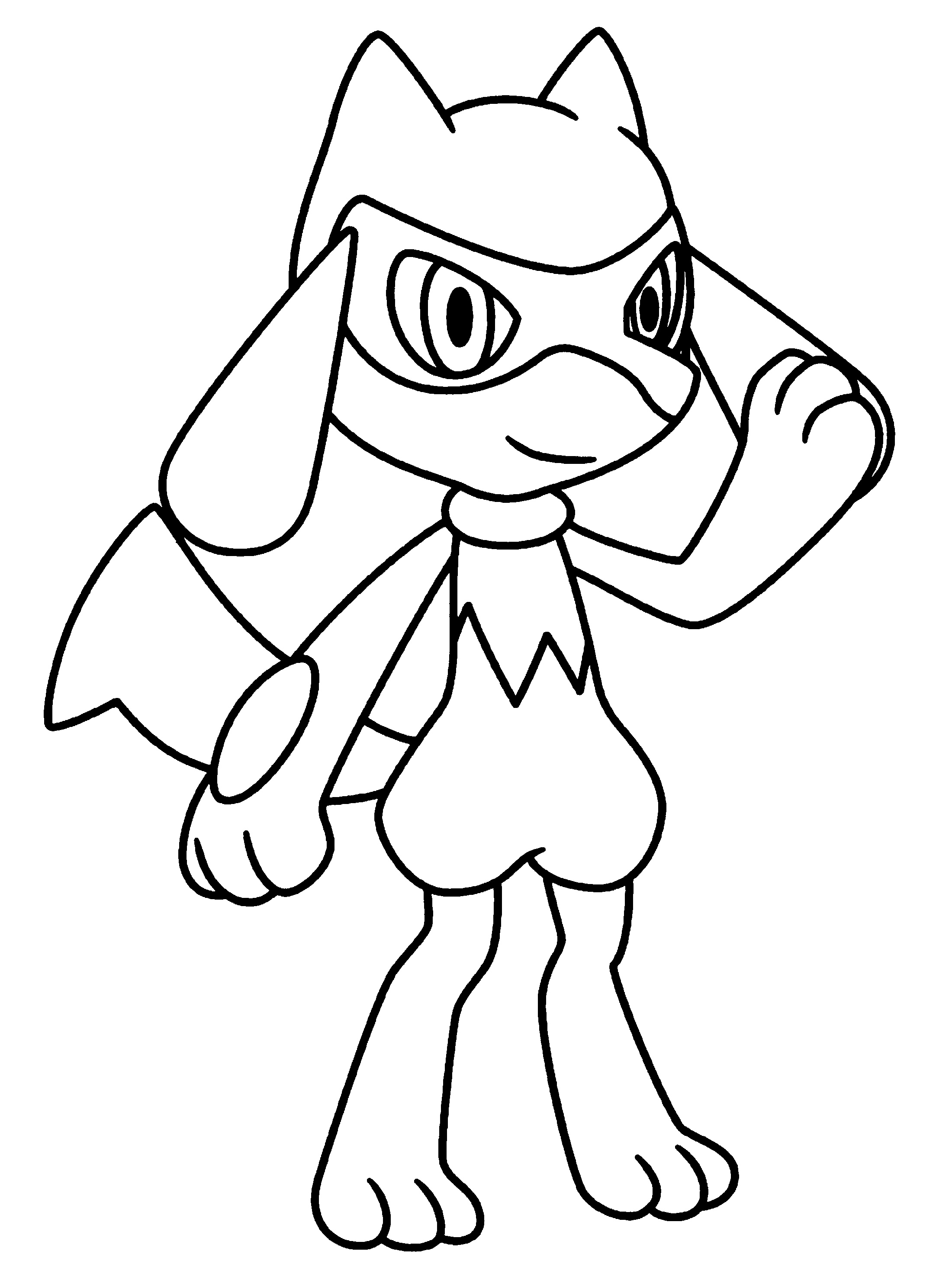 Lucario Coloring Page To Print