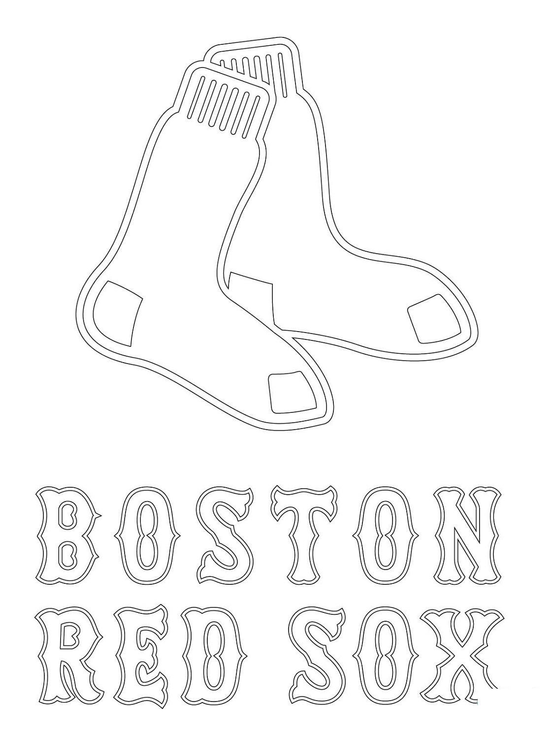 Red Sox Coloring Pages Printable