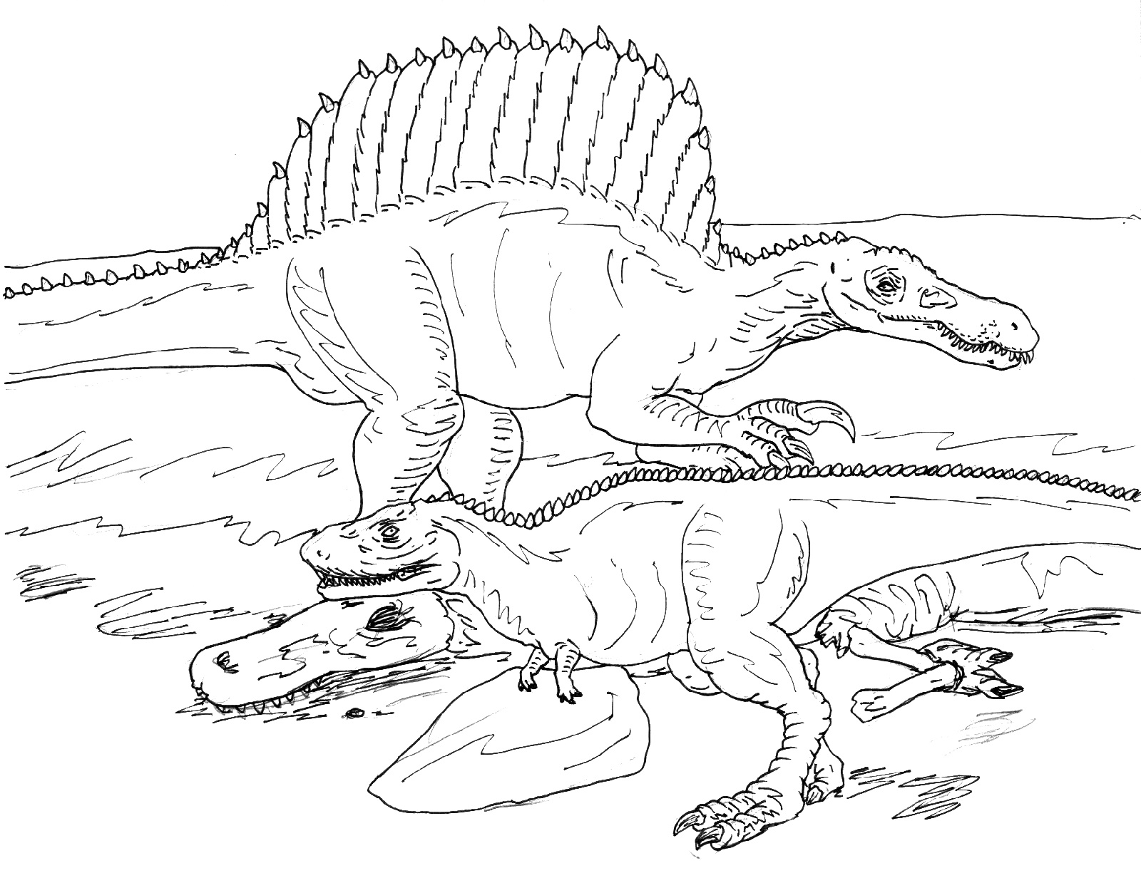 Spinosaurus Coloring Page To Print
