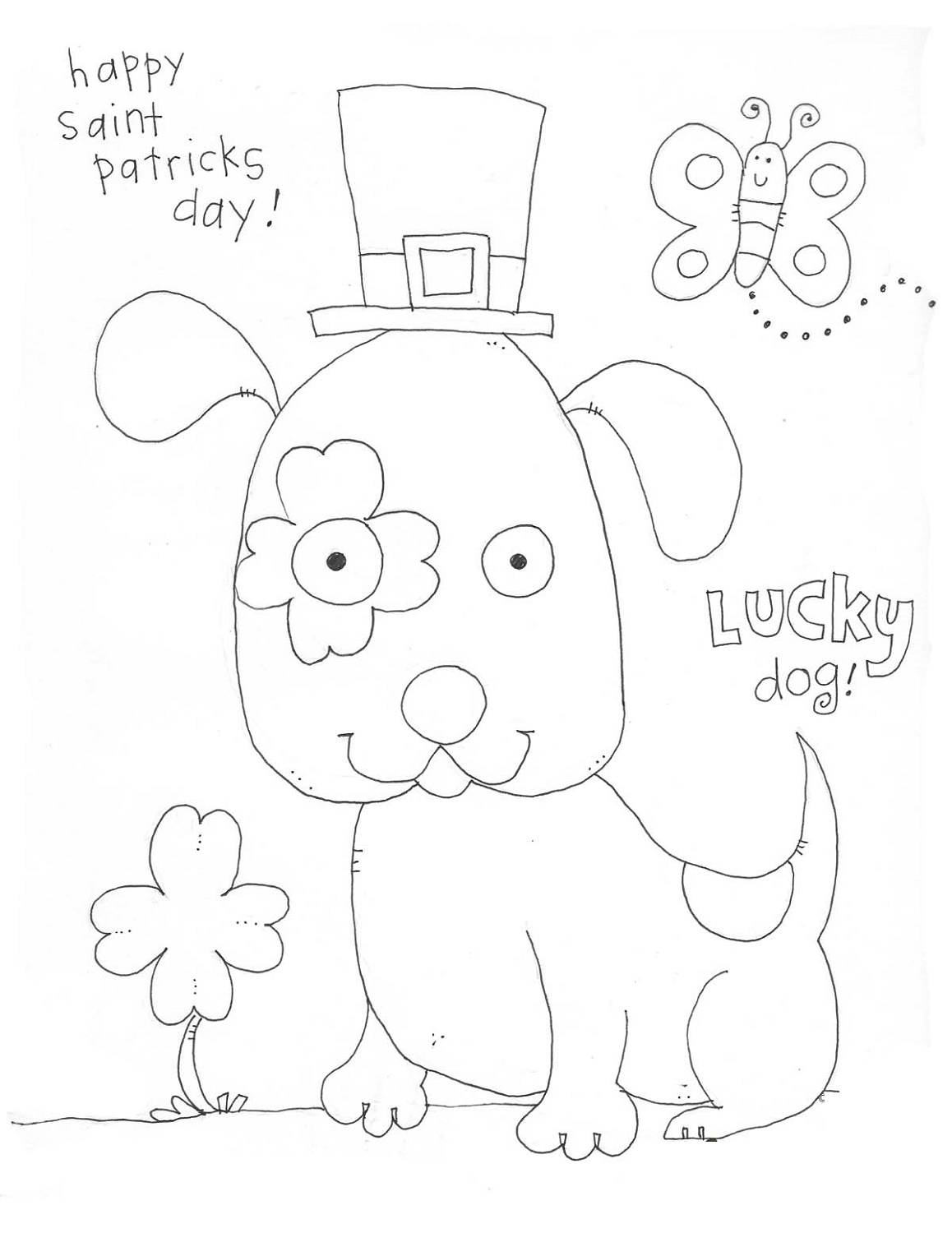St Patrick S Day Coloring Sheets Free