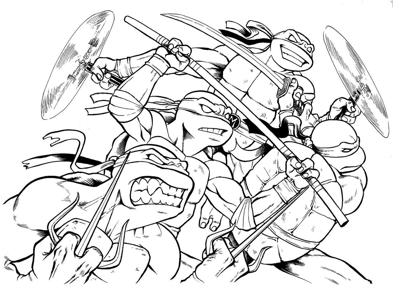 Teenage Mutant Ninja Turtles Coloring Pages To Print