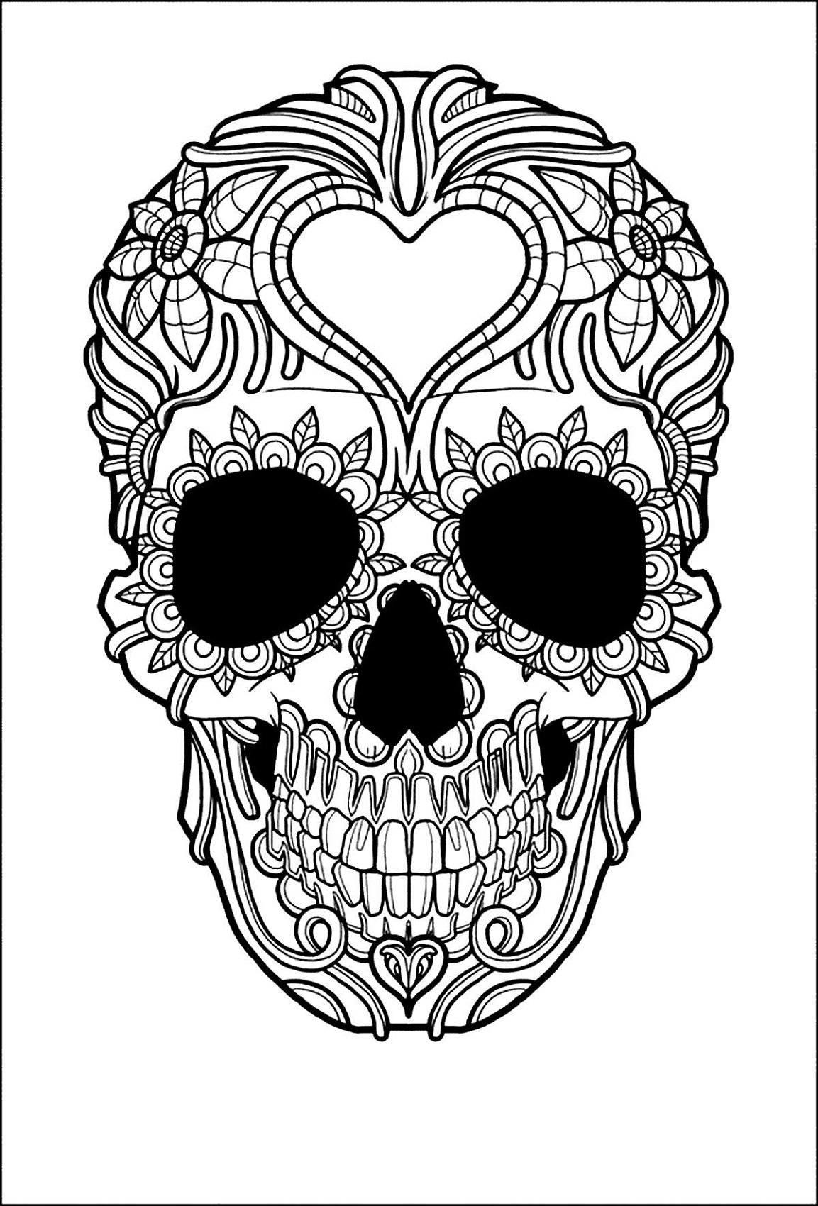 Candy Skull Coloring Pages For All Ages