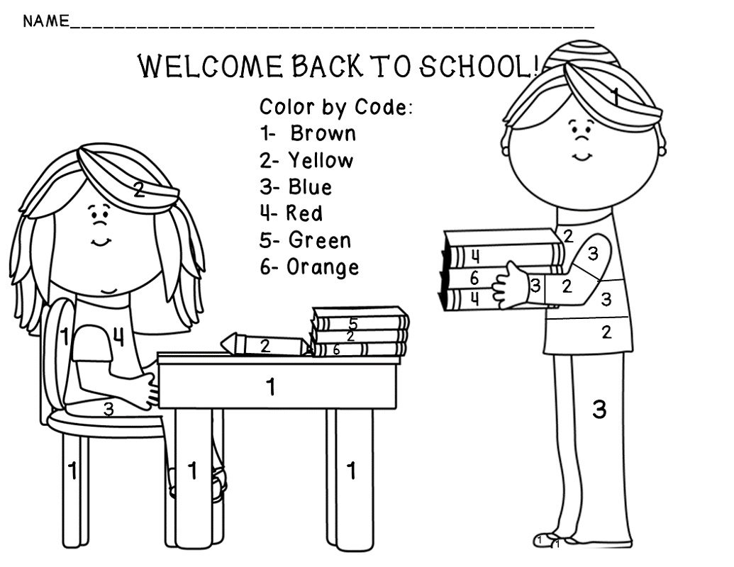 Back To School Coloring Pages For Free Learning Material