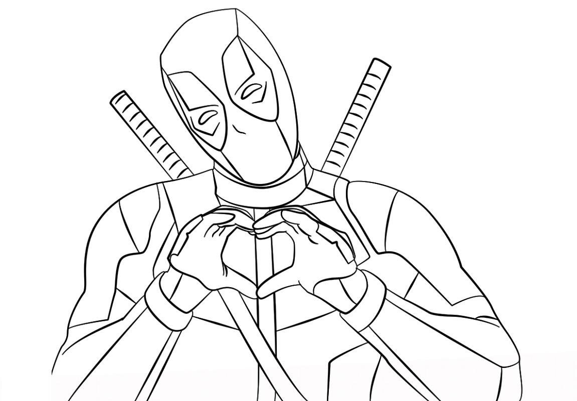 Deadpool Coloring Pages Printable K5 Worksheets