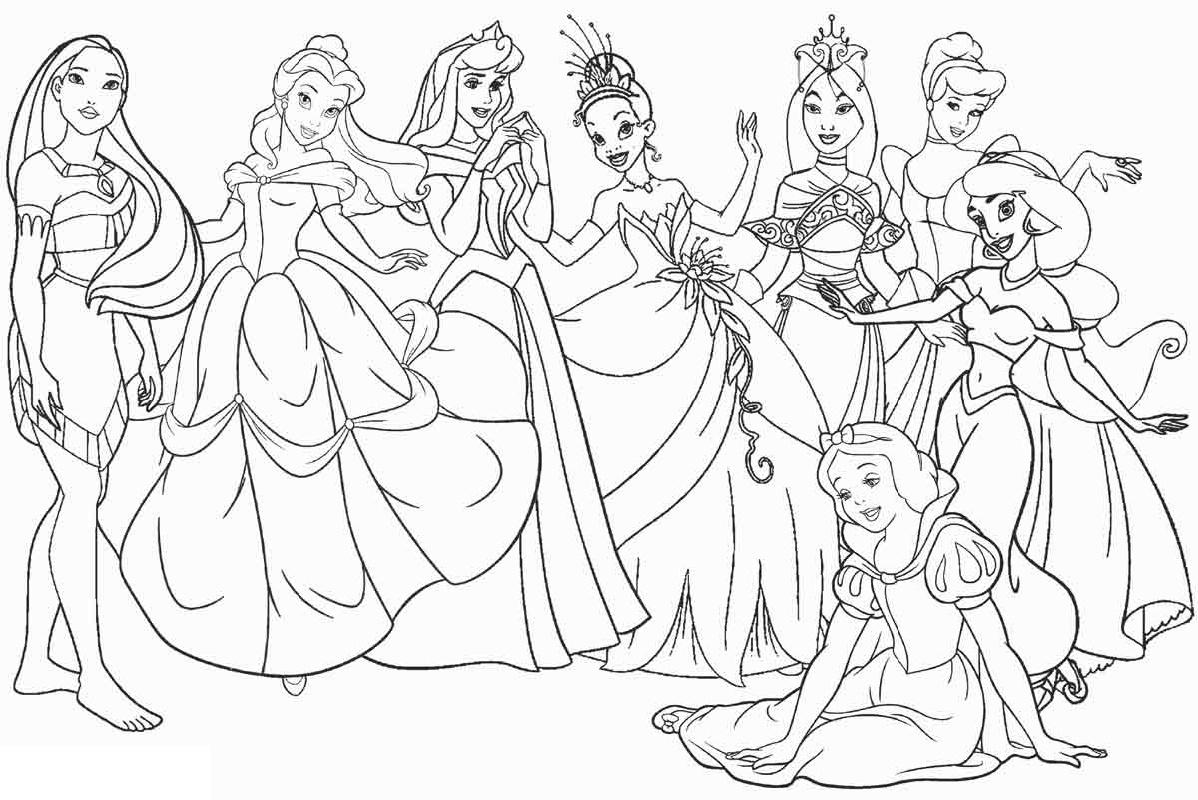 Disney Printable Coloring Pages Princess K5 Worksheets