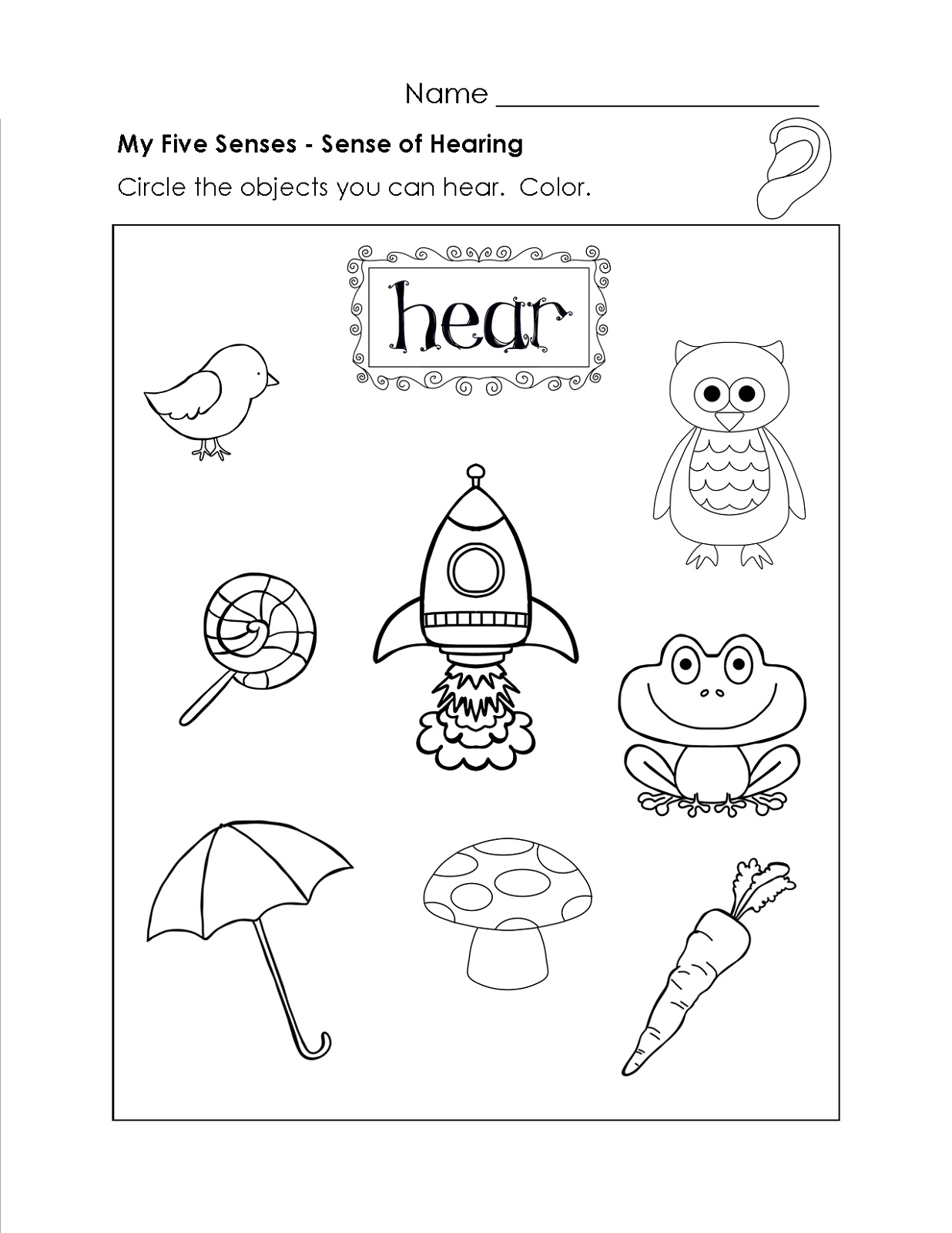 Educational Worksheets For 5 Year Olds Simple