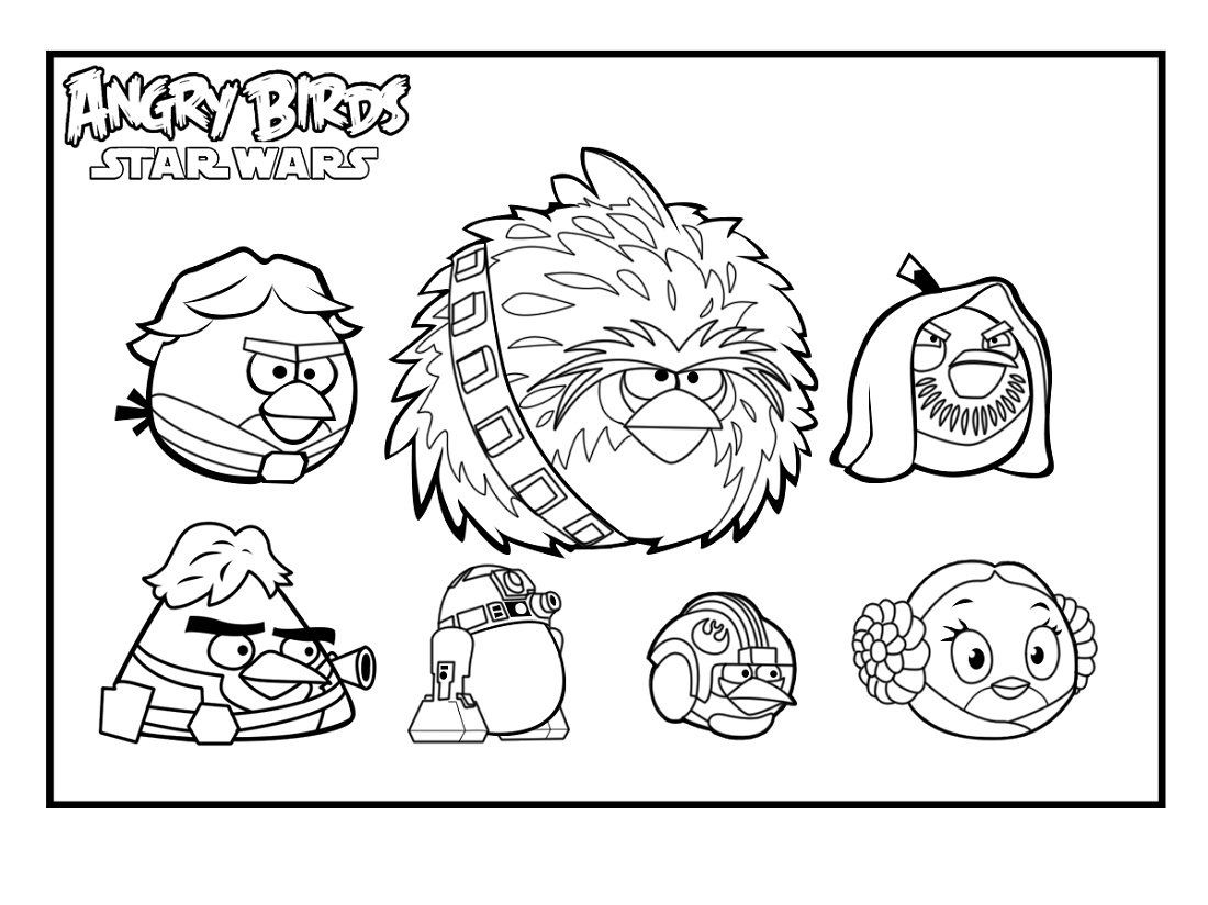 Angry Birds Star Wars Coloring Pages Characters K5