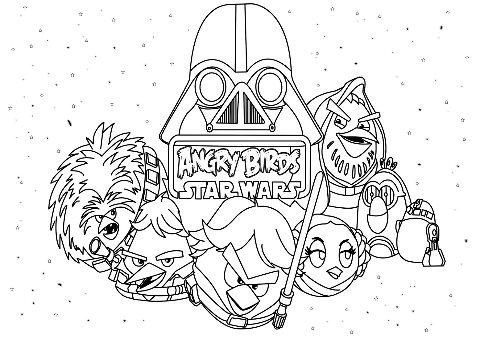 Angry Birds Star Wars Coloring Pages Downloadable