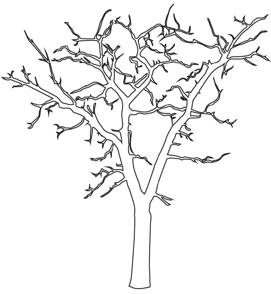 Bare Tree Coloring Page Usable