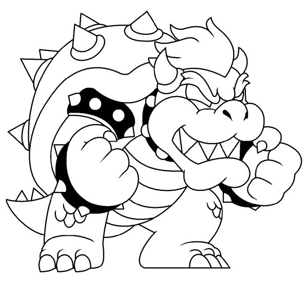 bowser coloring page # 30