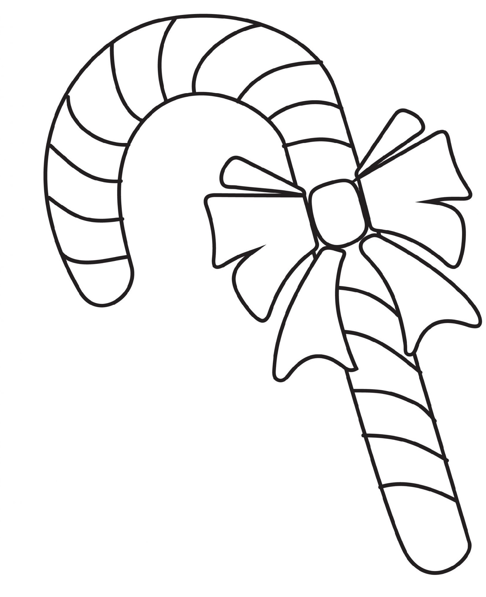 Candy Cane Coloring Page All Students