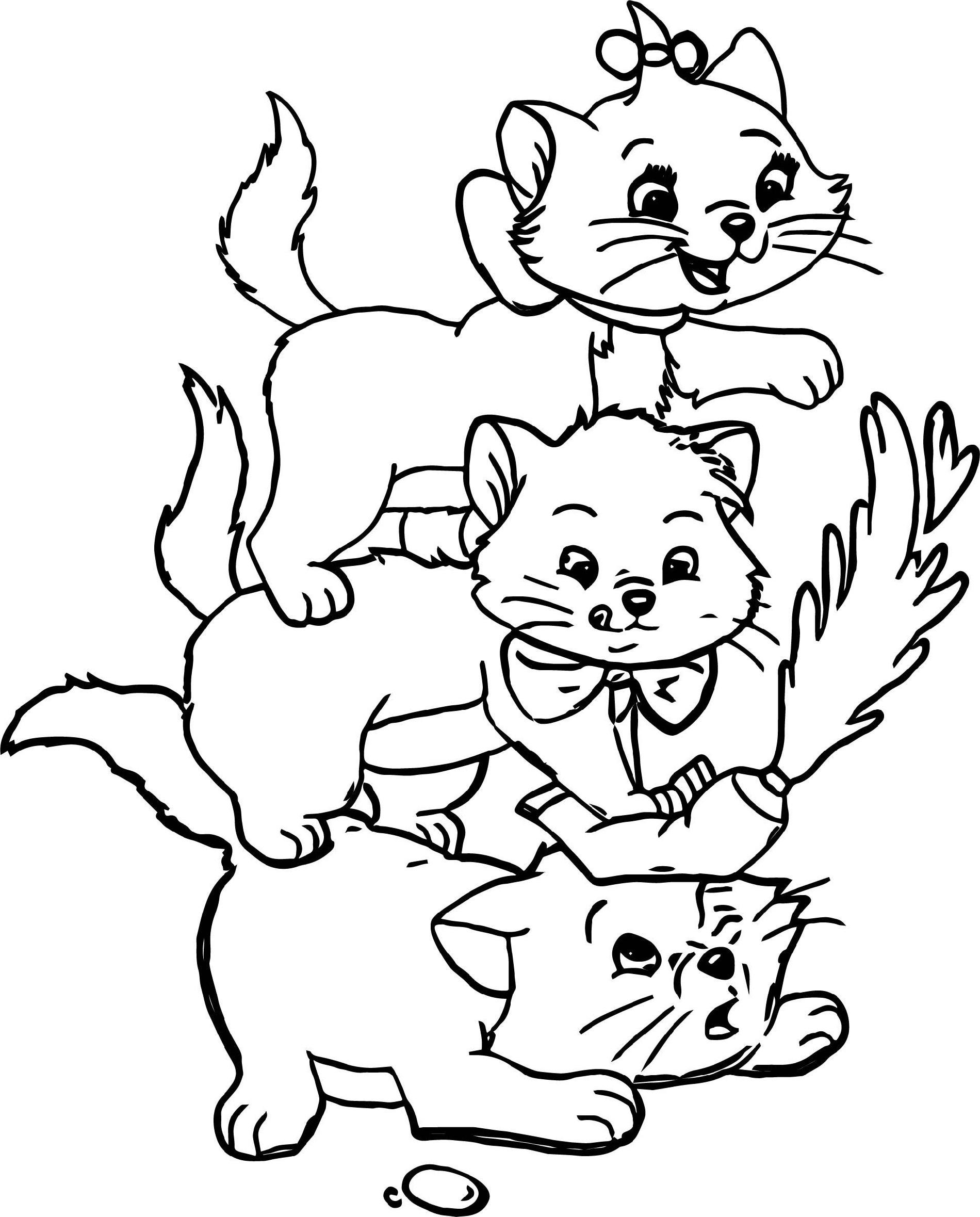 Cat Coloring Book Disney