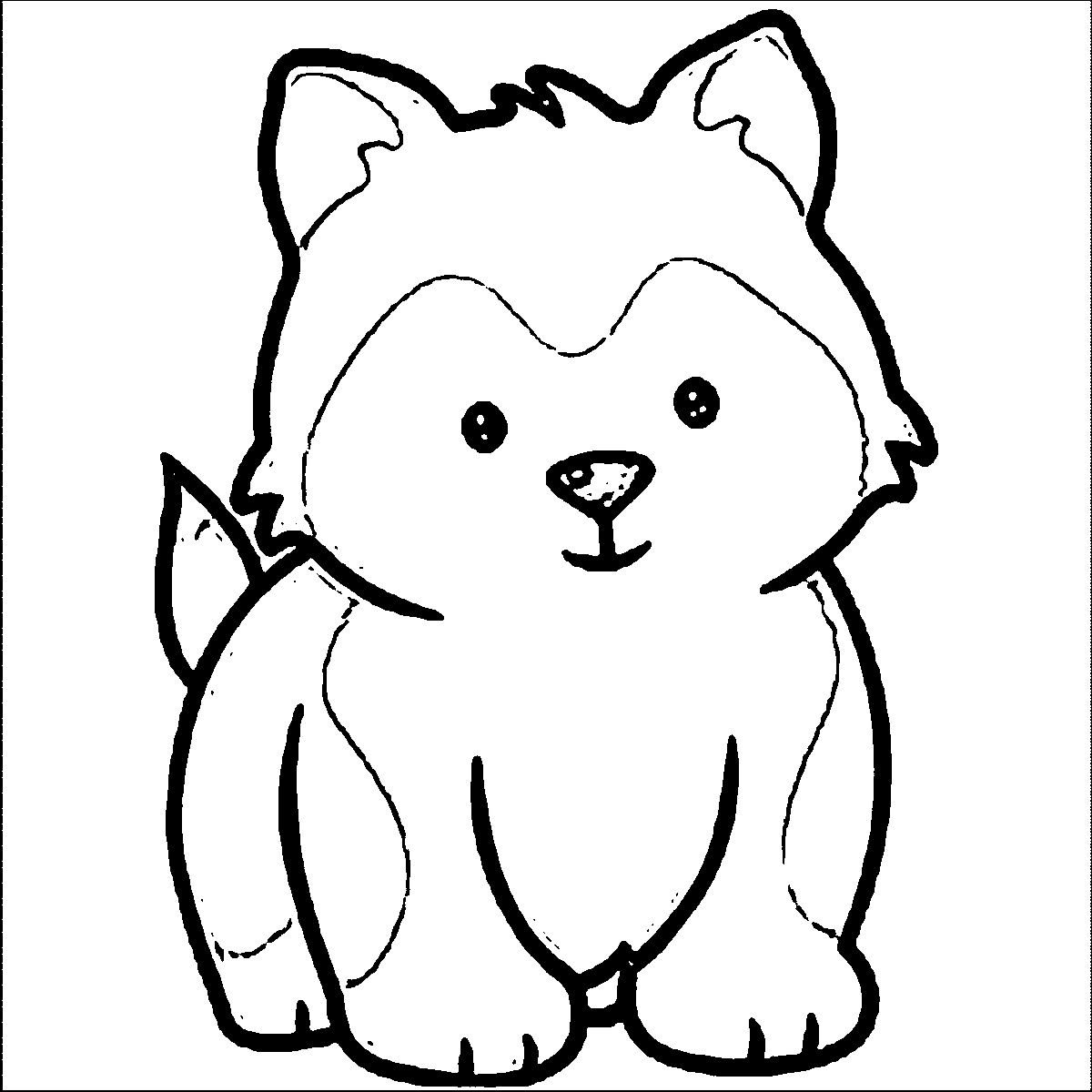 Dog Coloring Cartoon For All Ages