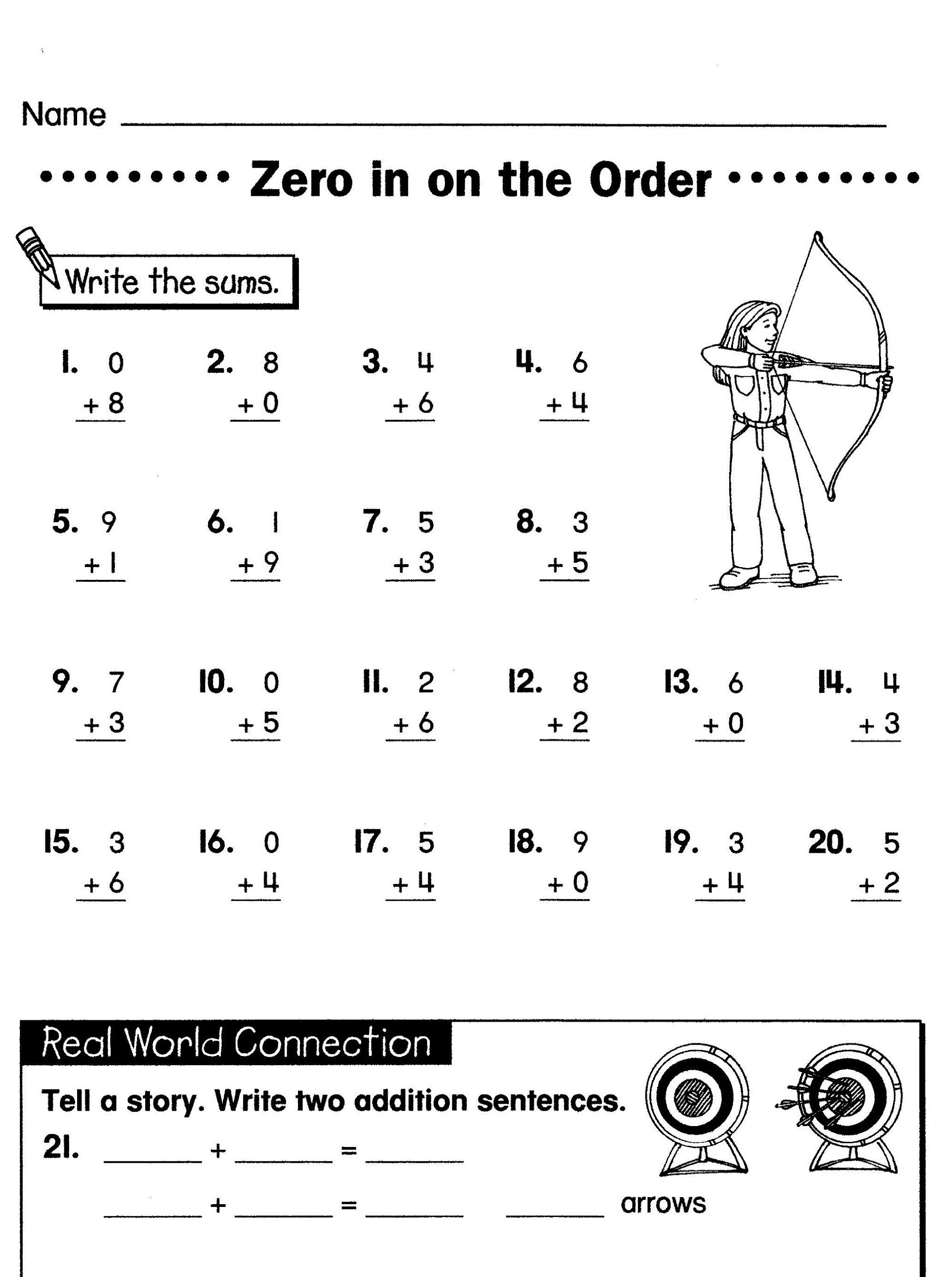 Elementary Math Worksheets Activity Quickly Usage