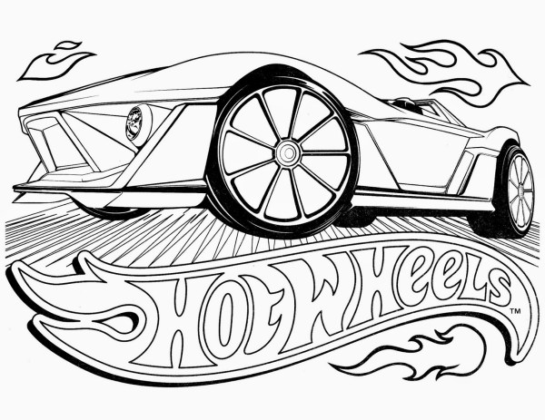 hot wheel coloring pages # 37