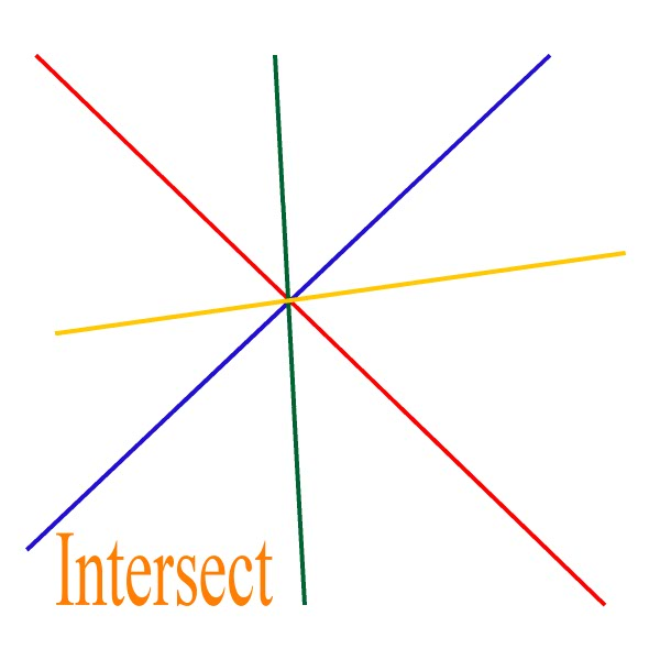 Shapes Intersecting Lines