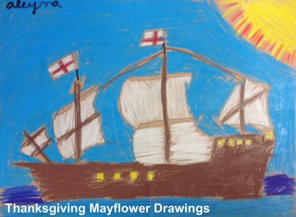 Thanksgiving Mayflower Drawings - 6 Artk Art