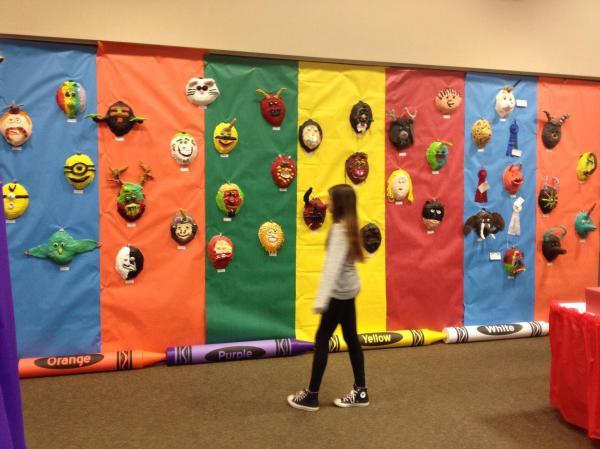 School Art Show Display Idea