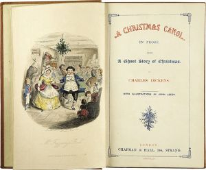 "Title page of ""A Christmas Carol"""