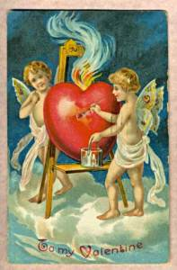 "Antique (Public Domain old) Valentine. Caption reads ""To My Valentine"""